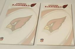 "NFL Arizona Cardinals 5"" x 8"" licensed note pads 40 sheets"