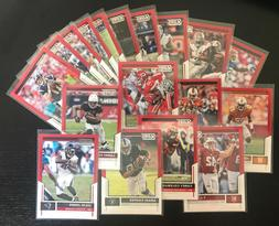 2017 Score RED Parallel Football Cards - Complete Your Set!