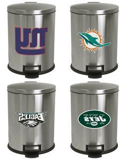 3.1 Gal NFL Theme Stainless Steel StepCan Wastebasket w/Foot