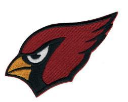 "🐦4"" ARIZONA CARDINALS Black Logo Iron-on Football Jersey"