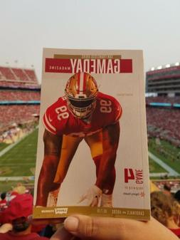49ERS GAME DAY PROGRAM  #4 ARIZONA CARDINALS  10 07 2018  LE