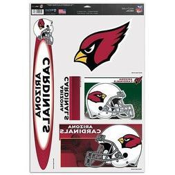 Arizona Cardinals  11 X 17 sheet of 5 Ultra Decals / Window
