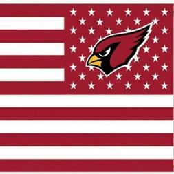 Arizona Cardinals 3x5 Foot American Flag Banner New