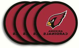 arizona cardinals 4 pack vinyl coaster set