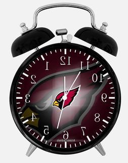 "Arizona Cardinals Alarm Desk Clock 3.75"" Home or Office Deco"