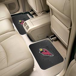 Arizona Cardinals Backseat Utility Mats 2 Pack