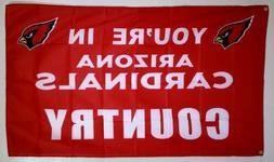 Arizona Cardinals Banner 3x5 Ft Flag Man Cave Decor Football