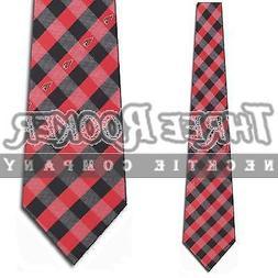 Arizona Cardinals Check Poly Necktie