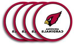 arizona cardinals coasters set of 4 beverage
