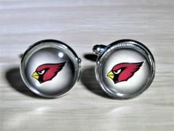 Arizona Cardinals Cufflinks made from Recycled Football Card
