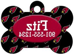 Arizona Cardinals Custom Pet Id Dog Tag Personalized w/ Name