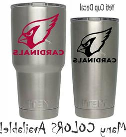 Arizona Cardinals Football Decal for NFL YETI Tumbler 20 30