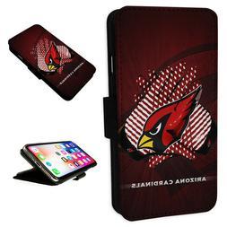 Arizona Cardinals - Flip Phone Case Wallet Cover Fits Iphone