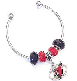 Arizona Cardinals Football Charm Bracelet Cuff Quality Fast
