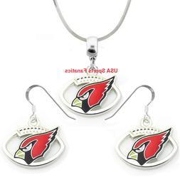 Arizona Cardinals Football Logo Pendant Necklace or Earrings