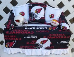 ARIZONA CARDINALS Football Sofa Couch Tissue Box Cover w/ He