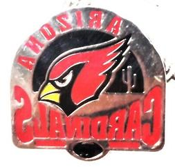 arizona cardinals glossy metal hat lapel pin
