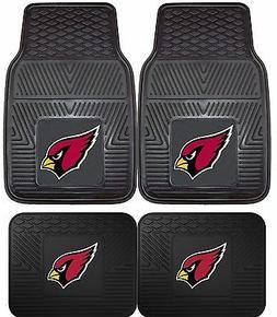 Arizona Cardinals Heavy Duty Floor Mats 2 & 4 pc Sets for Ca