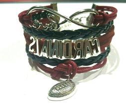 Arizona Cardinals Infinity Bracelet football charm US SELLER