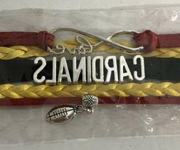 Arizona Cardinals Infinity Collection Bracelet With Football