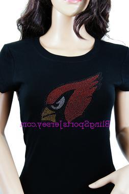 Arizona Cardinals Jersey Rhinestone Bling T-shirt