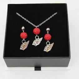 Arizona Cardinals Jewelry Shamballa Bead Crystal Necklace an