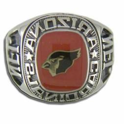 Arizona Cardinals Large Classic Silvertone NFL Ring