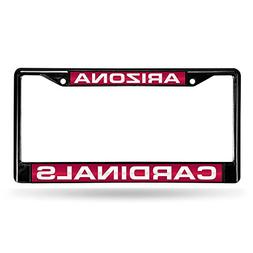 Arizona Cardinals Laser Black License Plate Frame