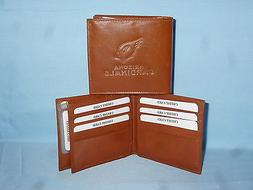 ARIZONA CARDINALS   Leather BiFold Wallet    NEW    brown 4