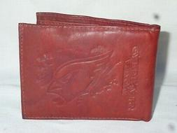 ARIZONA CARDINALS    Leather BiFold Wallet    NEW   dkb 3