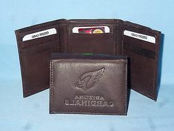 ARIZONA CARDINALS   Leather TriFold Wallet    NEW    dkbr 3