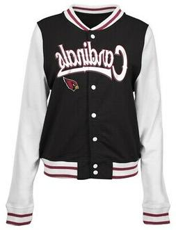 Arizona Cardinals Letterman Jacket Ladies French Terry Coat