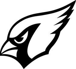 Arizona Cardinals Logo Vinyl Decal  - Size and Color Options