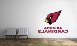 Arizona Cardinals Logo Wall Decal NFL Football Decor Sport V