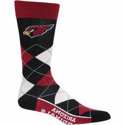 Arizona Cardinals NFL For Bare Feet Argyle Crew Socks Large