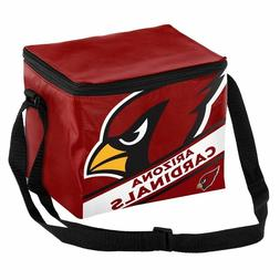 Arizona Cardinals NFL Big Logo Striped 6 pack Cooler Lunch B