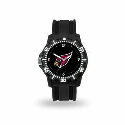 arizona cardinals nfl black rubber strap water