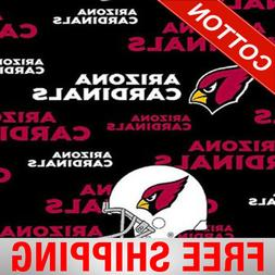"Arizona Cardinals NFL Cotton Fabric - 60"" Wide - Style# 6239"