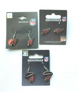 arizona cardinals nfl earrings choose your style