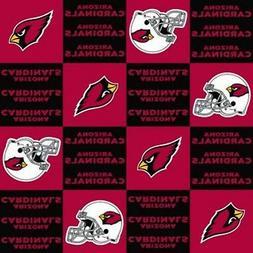 "Arizona Cardinals NFL Fleece Fabric - 60"" Wide - Style# 6328"