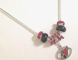 Arizona Cardinals Charm Necklace NFL Football Quality Fast S
