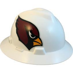 Arizona Cardinals MSA NFL Full Brim Hard Hat with Fas Trac S