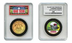 ARIZONA CARDINALS NFL *GREATEST DAD* JFK 24KT Gold Clad Coin