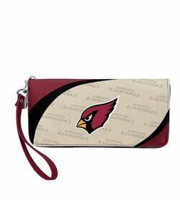 Arizona Cardinals NFL Women's Curve Zip Organizer Wallet / P