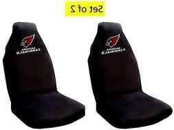 Arizona Cardinals Pair of Premium Embroidered Auto Seat Cove