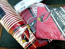 Arizona Cardinals Party Pack, 80 Paper Cups, Plates, Napkins