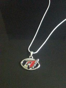 Arizona Cardinals Pendant Necklace on Sterling Silver Chain