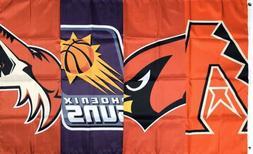 Arizona Cardinals Phoenix Suns Coyotes Diamondbacks Flag 3x5