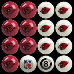 NFL Arizona Cardinals Pool Ball Billiards Balls Set w/ FREE