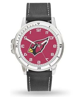 Arizona Cardinals Premium Classic Logo Mens Watch Brown Leat